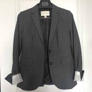 Banana republic gray grey wool suit blazer 2 small